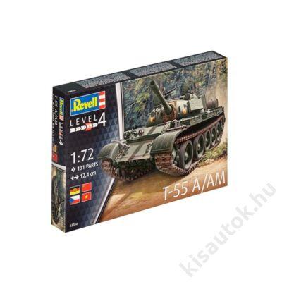 Revell 1:72 T-55 A/AM tank makett