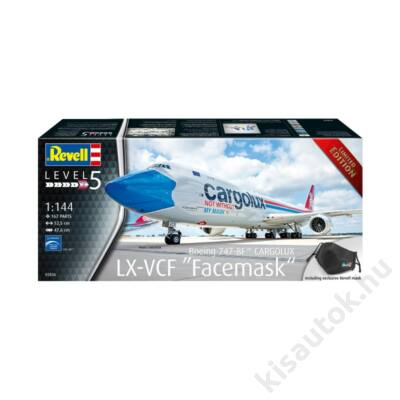 """Revell 1:144 Boeing 747-8F Cargolux LX-VCF """"Facemask"""" Limited Edition"""