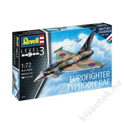 Revell 1:72 Eurofighter Typhoon RAF 100 Years of British Legends repülő makett