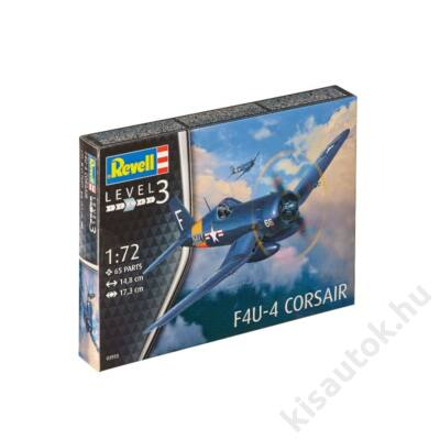 Revell 1:72 F4U-4 Corsair repülő makett