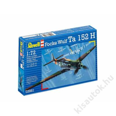 Revell 1:72 Focke Wulf Ta 152 H repülő makett