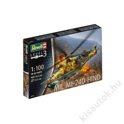 Revell 1:100 Mil Mi-24D Hind helikopter makett