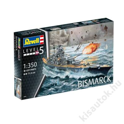 Revell 1:350 Bismarck hajó makett