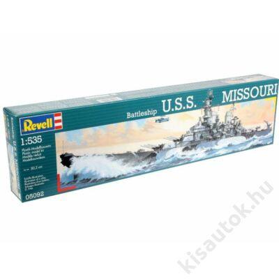 Revell 1:535 Battleship U.S.S. Missouri hajó makett