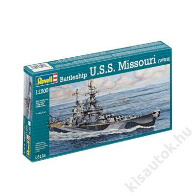 Revell 1:1200 Battleship U.S.S. Missouri (WWII) hajó makett