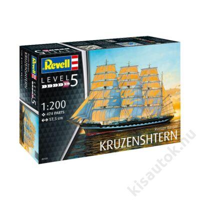 Revell 1:200 Russian Barque Kruzenshtren hajó makett