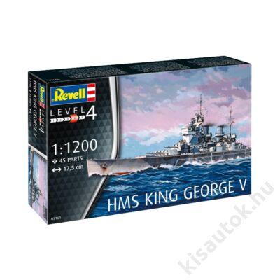 Revell 1:1200 HMS King George V hajó makett