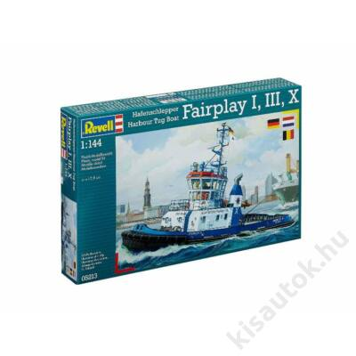Revell 1:144 Hafenschlepper Harbour Tug Boat Fairplay I, III, X