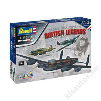 Revell 1:72 100 Years of RAF British Legends Gift SET repülő makett