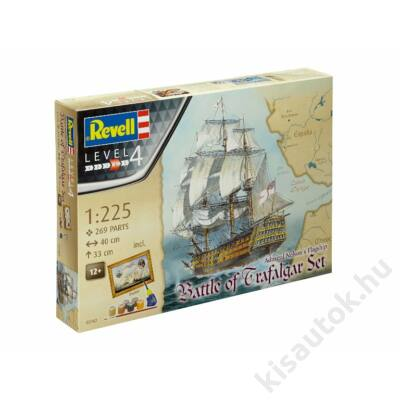 Revell 1:225 Admiral Nelson's Flagship Battle of Trafalgar Gift SET hajó makett