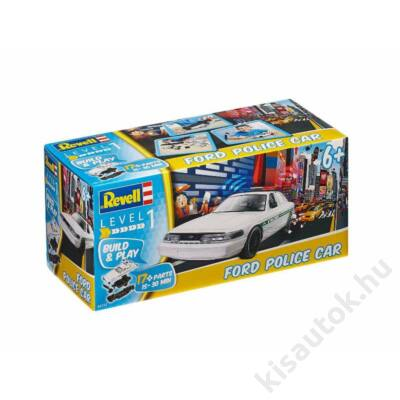 Revell Ford Police Car Build and Play