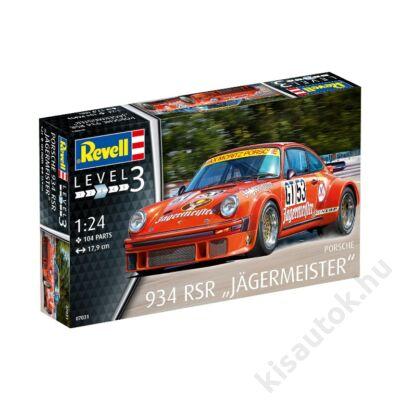 """Revell 1:24 Porsche 934 RSR """"Jägermeister"""" autó makett"""