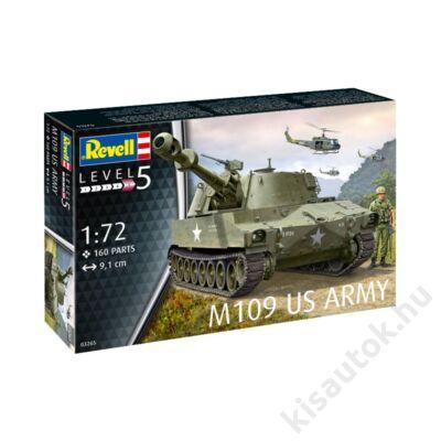 Revell 1:72 M109 US Army tank makett