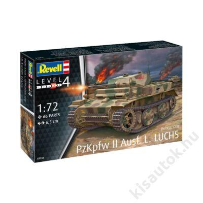Revell 1:72 PzKpfw II Ausf. L. LUCHS (Sd.Kfz. 123) tank makett