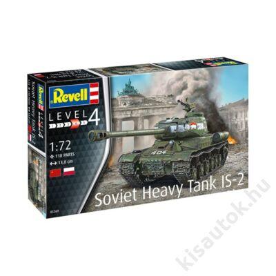 Revell 1:72 Soviet Heavy Tank IS-2 tank makett