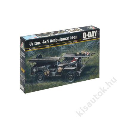 Italeri 1:35 1/4 ton. 4x4 Ambulance Jeep D-Day