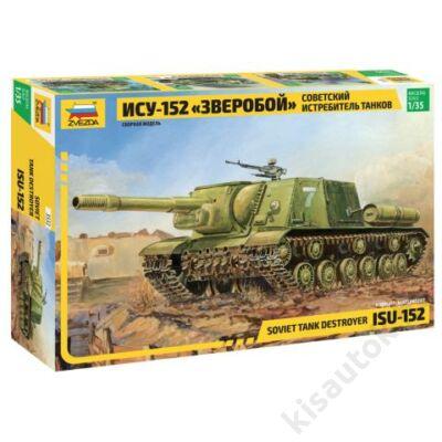 Zvezda 1:35 Soviet Tank Destroyer ISU-152 tank makett