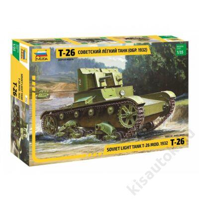 Zvezda 1:35 Soviet Light Tank T-26 (mod. 1932)