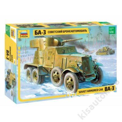 Zvezda 1:35 Soviet Armored Car BA-3