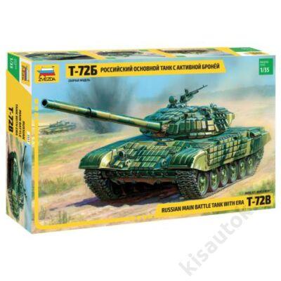 Zvezda 1:35 Russian Main Batle Tank T-72B with ERA tank makett