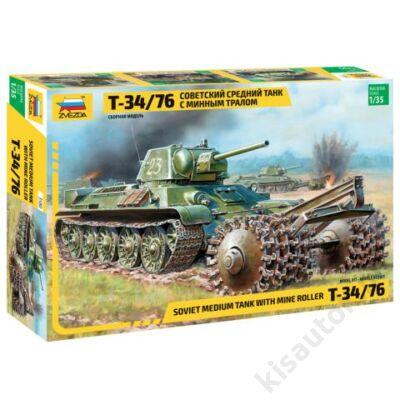 Zvezda 1:35 Soviet Medium tank T-34/76 with Minde Roller