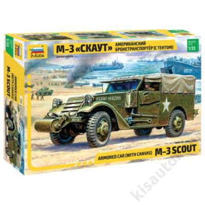 Zvezda 1:35 Armored Car (with canvas) M-3 Scout