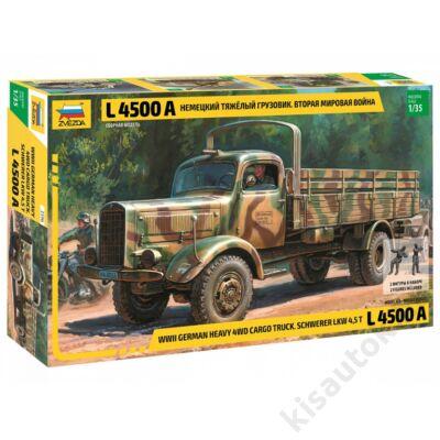 Zvezda 1:35 WWII German Heavy 4WD Cargo Truck L4500A Schwerer LKW 4,,5T