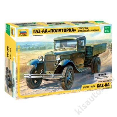 "Zvezda 1:35 Soviet Truck GAZ-AA ""Polutorka"" harcijármű makett"