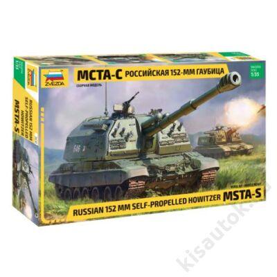 Zvezda 1:35 Russian 152mm Self-Propelled Howitzer MSTA-S tank makett