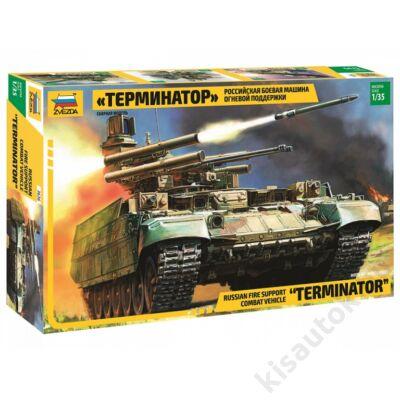 "Zvezda 1:35 Russian Fire Support Combat Vehicle ""Terminator"" tank makett"