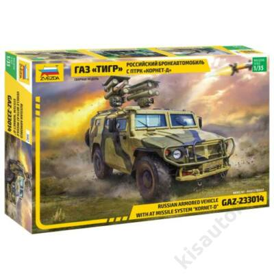 "Zvezda 1:35 Russian Armored Vehicle GAZ-233014 Tiger with AT Missile System ""Kornet-D"""