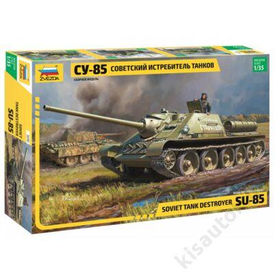 Zvezda 1:35 Soviet Tank Destroyer SU-85 tank makett