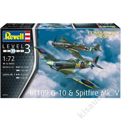 Revell 1:72 Bf109 G-10 & Spitfire Mk. V Combat Set repülő makett