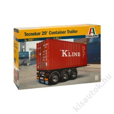 Italeri 1:24 Tecnokar 20' Container Trailer