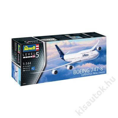 Revell 1:144 Boeing 747-8 Lufthansa New Livery repülő makett