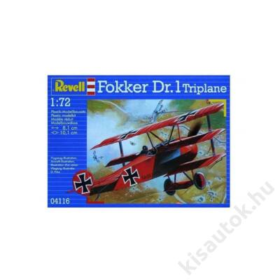 Revell 1:72 Fokker Dr.1 Triplane repülő makett