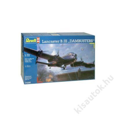 "Revell 1:72 Lancaster B.III ""Dambusters"" repülő makett"