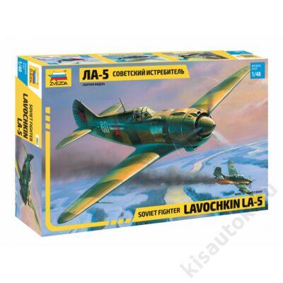 Zvezda 1:48 Soviet Fighter Lavochkin LA-5 repülő makett