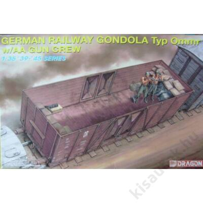 Dragon 1:35 German Railway Gondola Typ Ommr w/AA Gun Crew