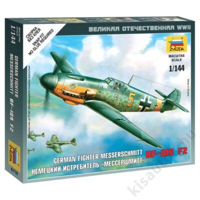 Zvezda 1:144 German Fighter Messerschmitt Bf-109 F2 makett repülő