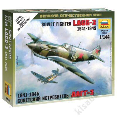 Zvezda 1:144 Soviet Fighter Lagg-3 1941-1945 makett repülő
