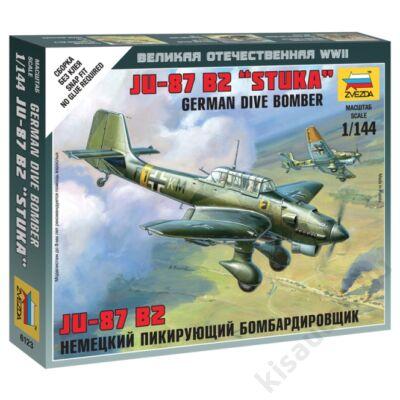 "Zvezda 1:144 German Dive Bomber Ju-87 B2 ""Stuka"" makett repülő"
