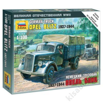 Zvezda 1:100 German Truck Opel Blitz 1937-1944 harcijármű makett