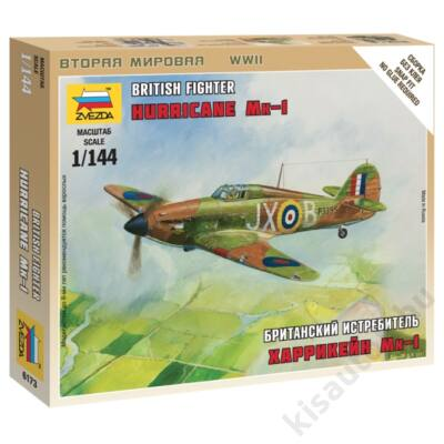 Zvezda 1:144 British Fighter Hurricane Mk-1