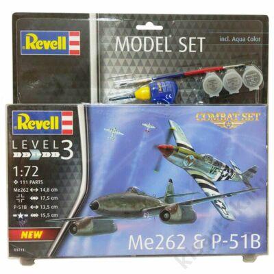 Revell 1:72 Messerschmitt Me262 & P-51B Mustang Combat Set SET