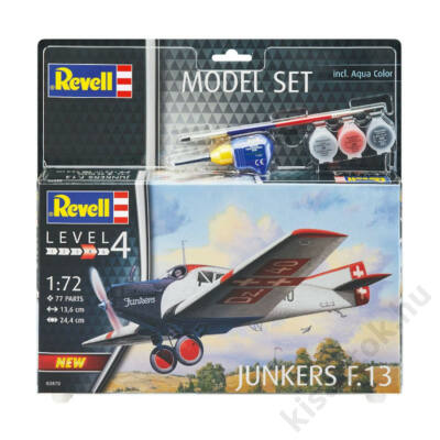 Revell 1:72 Junkers F.13 SET repülő makett