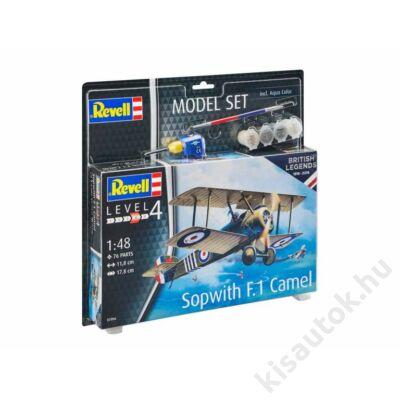 Revell 1:48 Sopwith F.1 Camel SET repülő makett