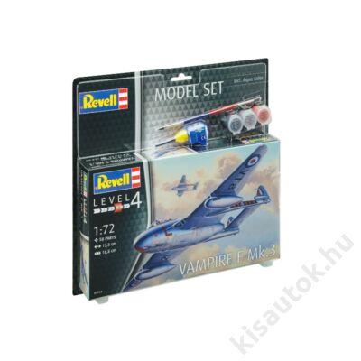 Revell 1:72 Vampire F Mk.3 SET repülő makett