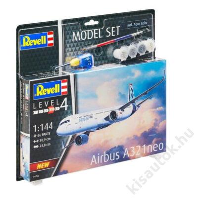Revell 1:144 Airbus A321neo SET repülő makett