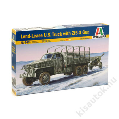 Italeri 1:35 Lend-Lease U.S. Truck with ZIS-3 Gun